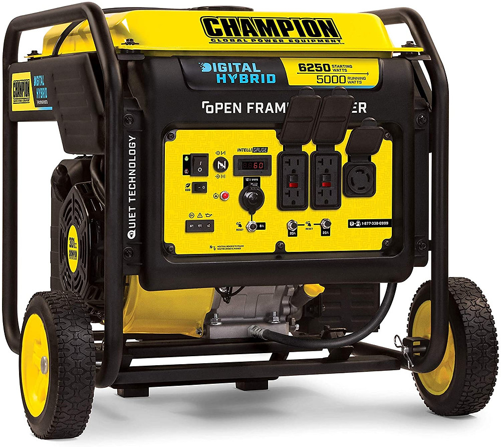 Quiet generator for food trucks - Champion 6250-Watt DH Series Open Frame Inverter with Quiet Technology