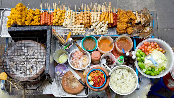 How much is street food in Thailand and Bangkok?
