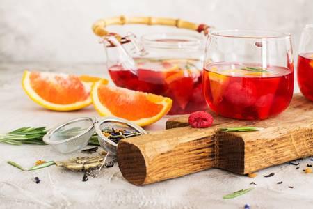 Juice pulp tea