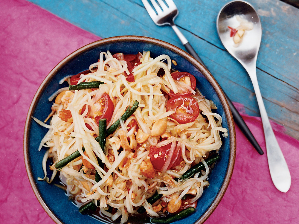 Papaya salad - how much is street food in Thailand?