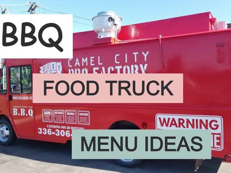 15 BBQ Food Truck Menu Ideas
