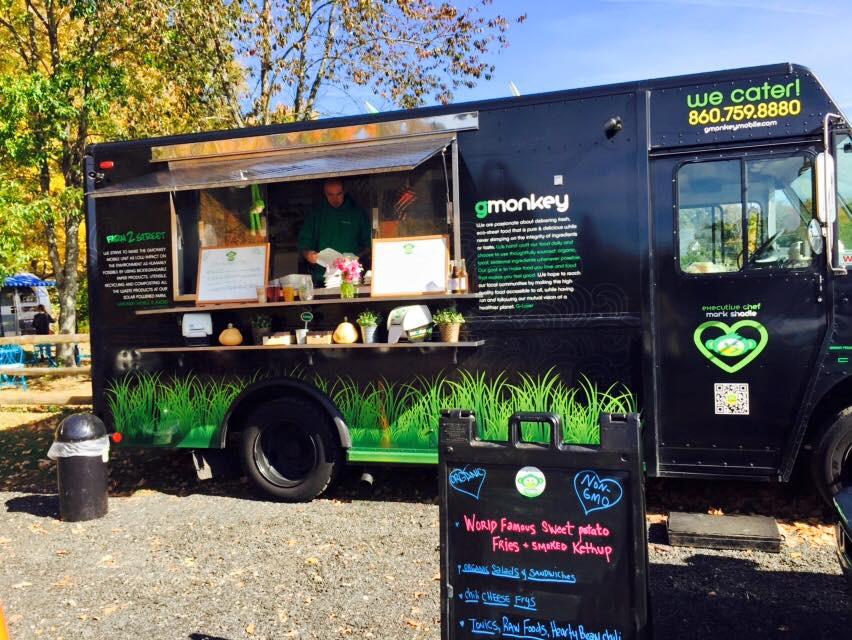Vegan food truck serving delicious vegan street food