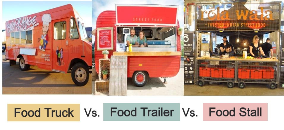 Food truck vs. food trailer vs. food stall