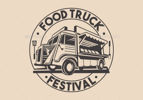 Food truck logo designs