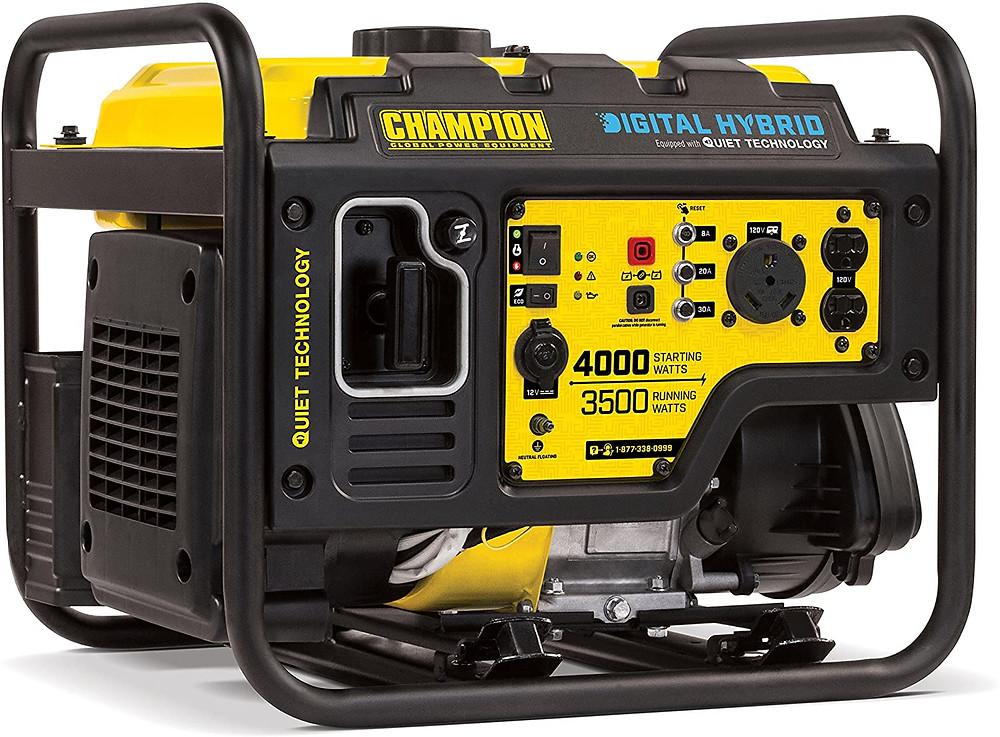 Quiet generator for food trucks - Champion 4000-Watt RV Ready DH Series Open Frame Inverter with Quiet Technology