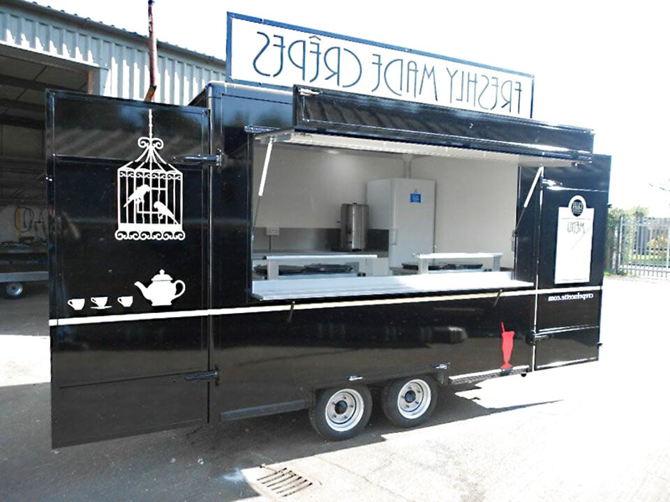 Types of vehicles used for food trucks - catering trailers