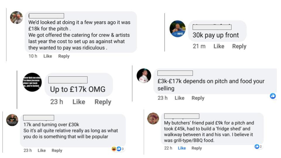 How Much Does It Cost To Have A Food Stall At Festivals