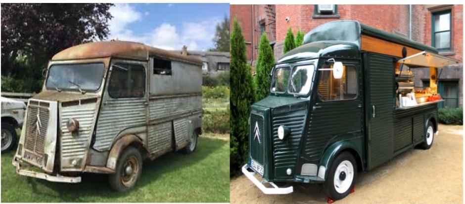 Types of vehicles used for food trucks - Citroen H Van