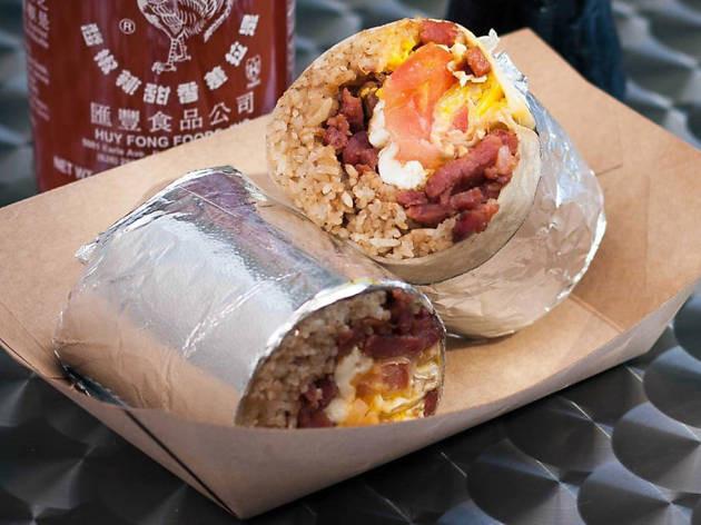 Food truck breakfast menu ideas - breakfast burrito