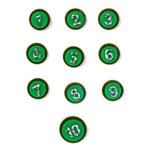 Birthday Badge -  Green/Olive