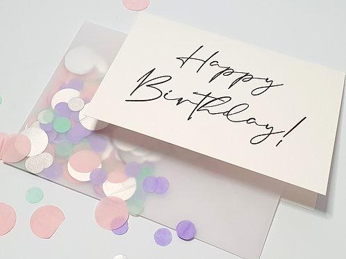 Happy Birthday - Confetti Card