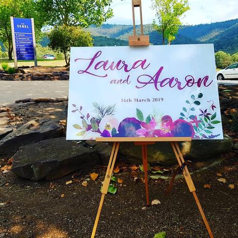 Aaron & Laura - Acrylic wedding sign
