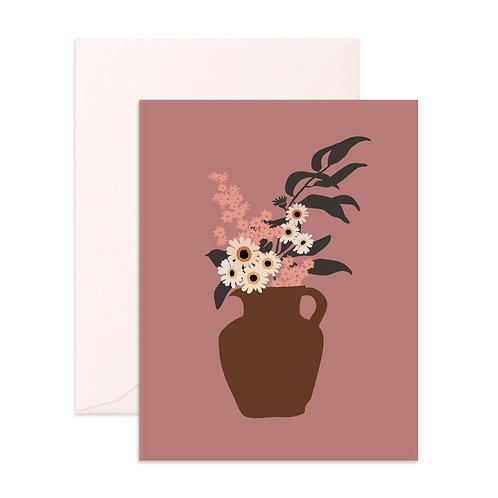 Still Life Daisy Bouquet Greeting Card