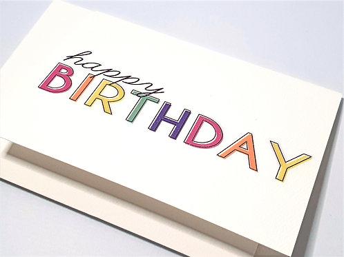 Happy Birthday - Pastel