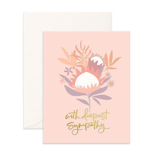 Deepest Sympathy Arcadia Greeting Card