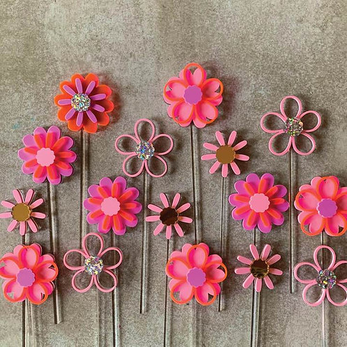 Flower Toppers - Set of 3