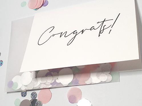 Congrats - Confetti Card