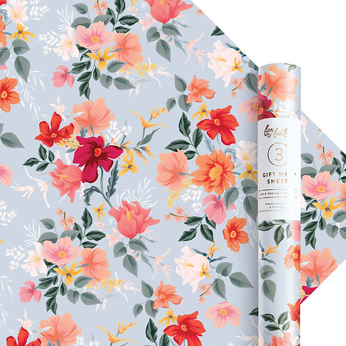 Bilberry Gift Wrap - Roll Of 3 Sheets