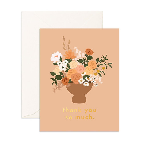 Thank You So Much Bouquet Greeting Card