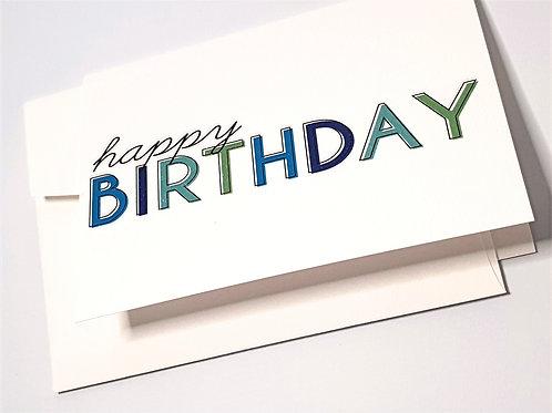 Happy Birthday - Blue