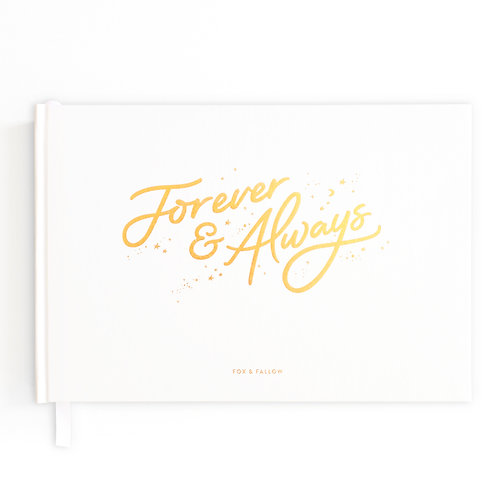 Forever & Always  Wedding Guest Book