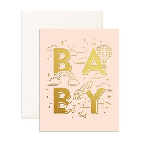 Baby Universe Pink Greeting Card