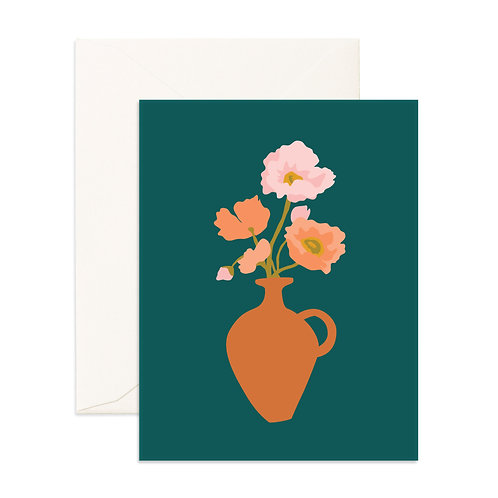 Muse Poppies Greeting Card
