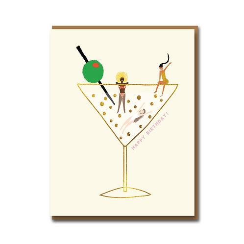 Drinks On Us Greeting Card