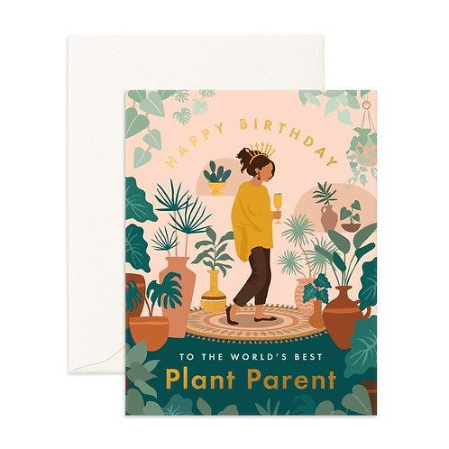 Birthday Plant Lady Greeting Card