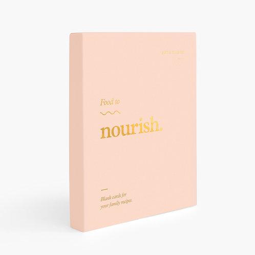 Food To Nourish Blank Recipe Cards