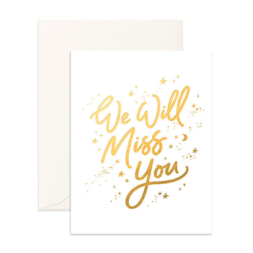 Miss You White Stars Greeting Card