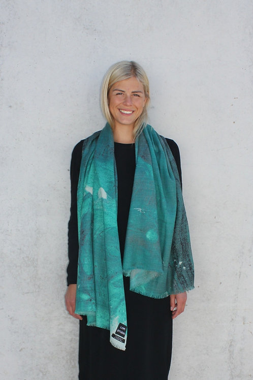 Seaweed skjerf - print