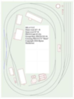 HO 6X8 donut, track plan, model railroad