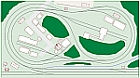 HO 5X9 double track, out and back, track plan, model railroad
