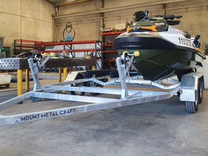 2020 Mount Metal Craft tandem axle double jet ski trailer