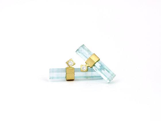 'Pompeii Aqua' earrings