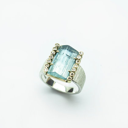 'Gentle' Aqua ring