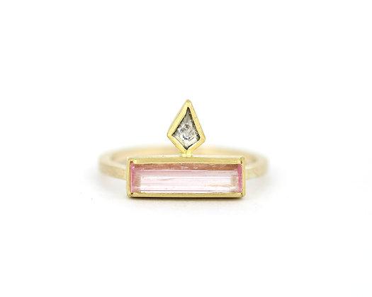 'Cleopatra Pink tourmalie' ring