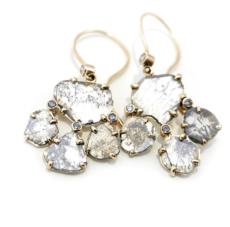 Reflection girandole earrings