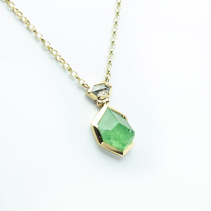 'Green magic' necklace