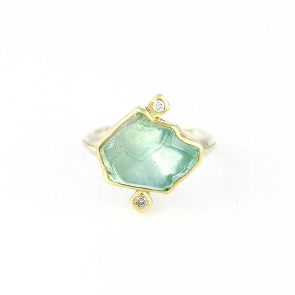 'Crude Beauty' Aqua ring