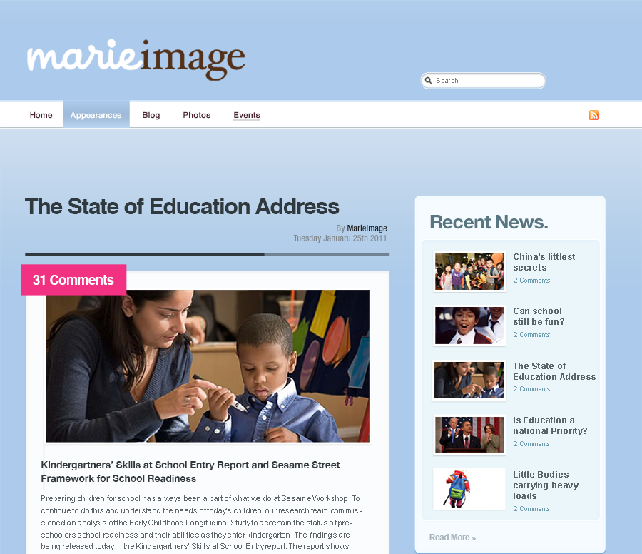 MarieImage Visual Design