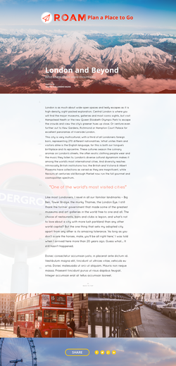 ROAM Blog Design