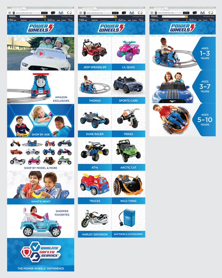Power Wheels Amazon Page Design