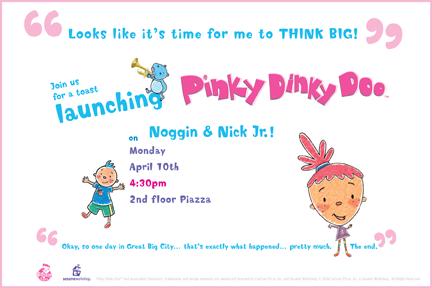 Pinky Dinky Doo Launch Branding
