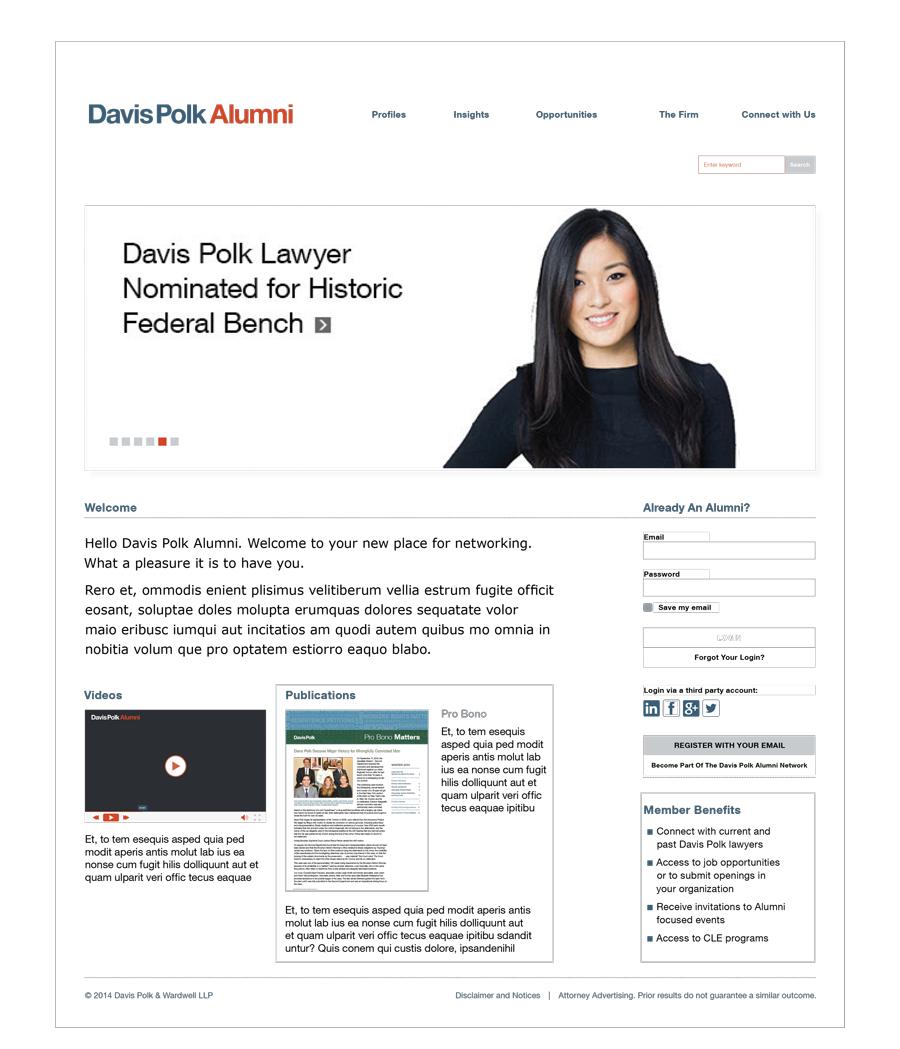 Davis Polk & Wardwell Alumni Site