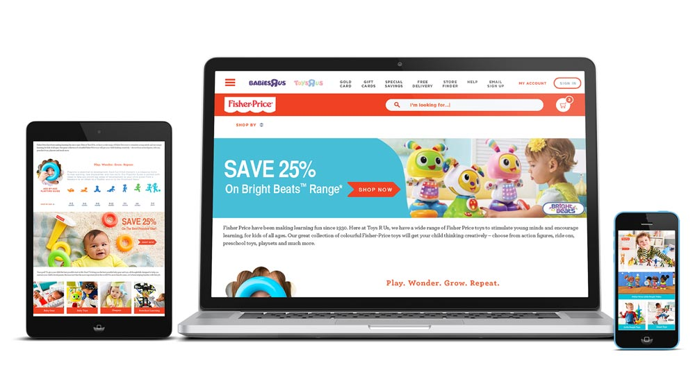 "Toys ""R"" Us European Site Redesign"