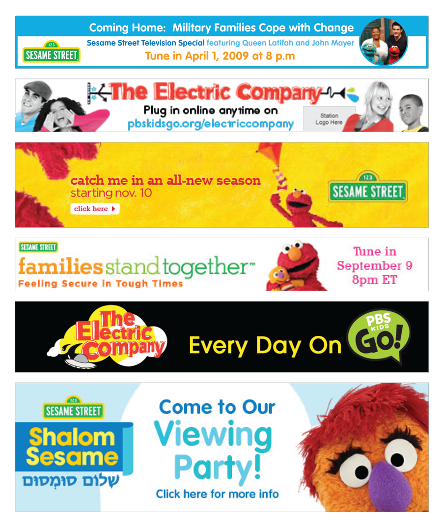 Sesame Workshop Banners