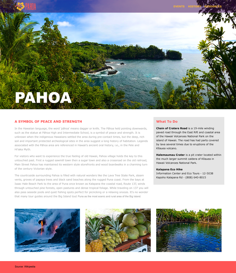 Pahoa Town Visitors' Website