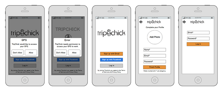 Trip Chick User Testing Revision Sketche